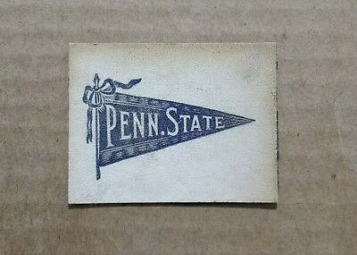 Penn State Nittany Lions Tobacco Leather (White Background) 1900's-1910's