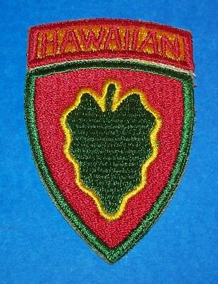 ORIGINAL CUT-EDGE EARLY WW2 24th INFANTRY HAWAIIAN DIVISION PATCH, ATTACHED TAB