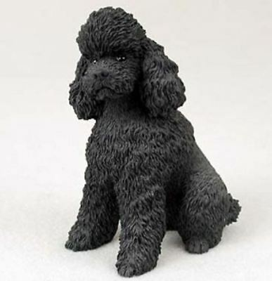 POODLE BLACK SPORT CUT DOG Figurine Statue Hand Painted Resin Gift Pet Lovers
