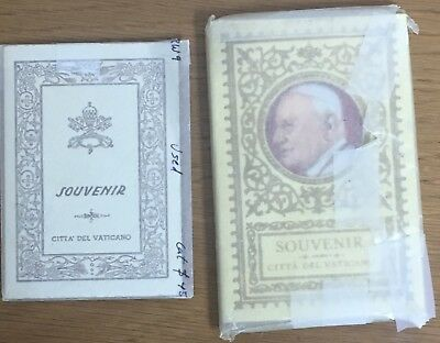 Lot Of 2 Vatican Spuvenir Coin & Stamp Books 1950's Pius XII