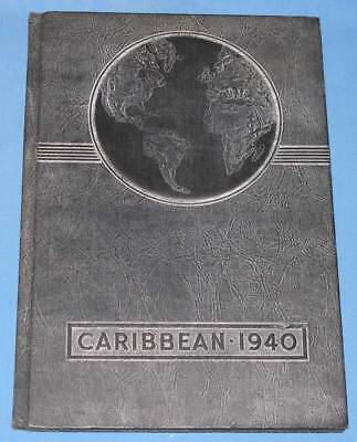 1940 Caribbean Yearbook - Cristobal High School - Panama Canal Zone History