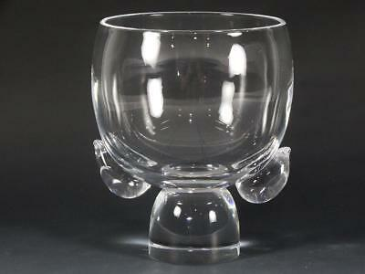 """Unique Steuben Glass 5 3/4"""" Tall Footed Bowl / Vase"""