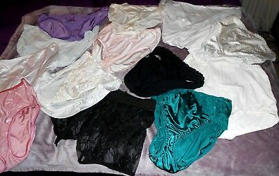 LOT OF 13 PAIR OF Vintage Nylon cotton Panties GREAT DEAL SEXY SILKY SHEER