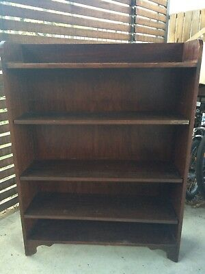 Vintage oak bookcase tall early 20th century