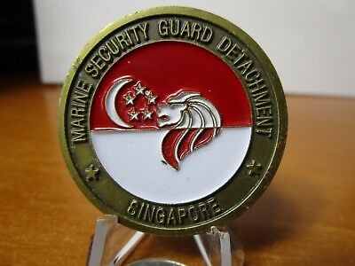 Marine Security Guard DET Singapore American Embassy USMC MSG Challenge Coin