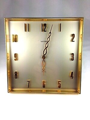 Superb  Modernist Swiss Art Deco Desk Clock by Luxor 8 Day Movement
