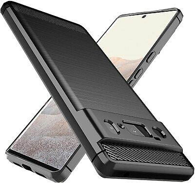 For Google Pixel XL 2XL 3XL Shockproof Slim Fiber Carbon Silicone TPU Cover Case