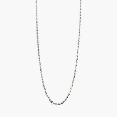 """goodbyebabylon / sterling silver 3mm rope chain / necklace 24"""" (12.5g)"""