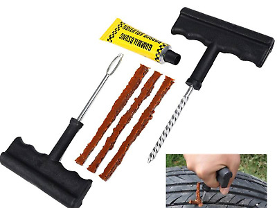 Car Tire Repair Tool Kit For Tubeless Emergency Tyre Fast Puncture Plug,