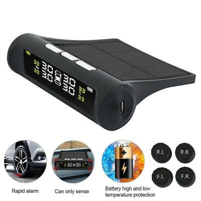 Wireless Solar Car Tire Pressure Monitoring System DIY TPMS with 4 Sensors