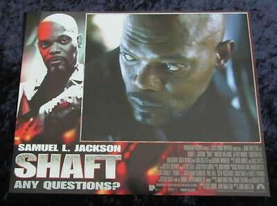Shaft lobby card # 6 - Samuel L. Jackson - 11 x 14 inches