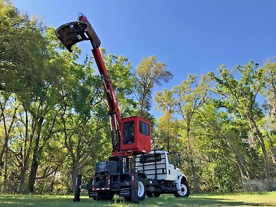 Grapple Truck Knuckle Boom Self Loading Clam Shell Debris Cleanup Bucket Truck