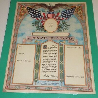 World War I Poster - original - In Service of His Country (add'l ship $5)