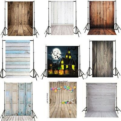Photo Backdrops Vinyl Wooden Floor Photography Background For Newborn Kid USA