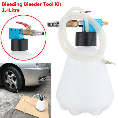 Brake Bleeder Bleeding Fluid kit Set Car Van Air Pneumatic Garage Vacuum Tool