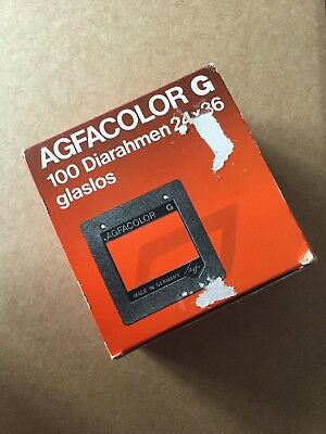 Vintage  Agfacolor Dia Frames Without Glass 24x36 Approx 80 Type 5849/600