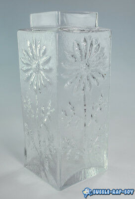 Frank Thrower Dartington Glass Daisy Vase