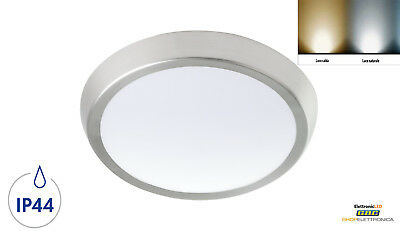 Plafoniera Led Soffitto Lampade Plafoniere Da Esterno Bianca Led Ip44 Nickel 13W