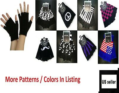 Unisex Men Woman Winter Warm Fingerless Gloves Half Finger Knit Mittens Colors