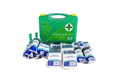 48 Piece First Aid Kit / Box- HSE compliant 1-10 Persons for Office / Warehouse