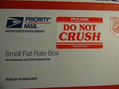 Five 2 x 3 PLEASE DO NOT CRUSH **THANK YOU** Bright Red Shipping Labels 5 Count