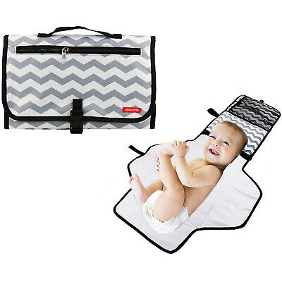 Baby Diaper Changing Pad Travel Diaper Clutch Mat Changing Station Changer Gray