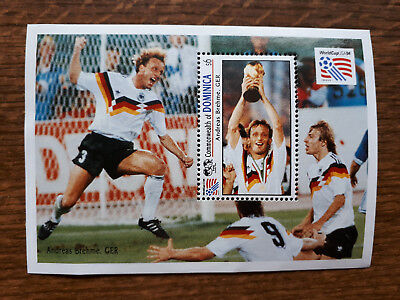 """Andreas Brehme, GER"",  Commonwealth of Dominica; 6$; World Cup USA 1994"