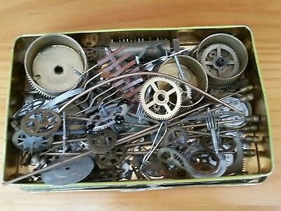JOB LOT OF OLD CLOCK PARTS - steam punk