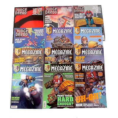 Bundle Of 12 2000AD Mega-Zine Comics - Judge Dredd - Mixed Issues - Mixed Years
