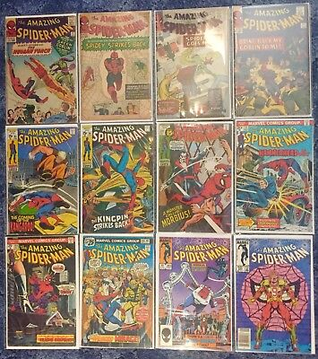 Amazing Spiderman Lot - 17, 19, 24, 27, 81, 84, 101, 130, 144, 156, 263 & 264