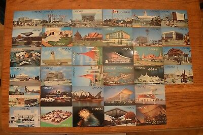 CANADA Montreal Expo 67 Lot of 34 Different Rare & Vintage Postcard FREE SHIP