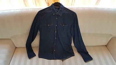 Chemise en Jean 100% Coton Homme JULES Coupe FITTED Taille M Couleur Jean  Brut 34b35772f165