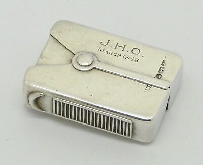 Very Rare Victorian Novelty Patented Solid Silver Vesta Case Hm 1876 B H Joseph