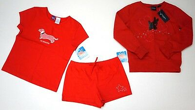 NWT LOT 3 SO 4th Sonoma Girl 6 Red Shirt Sweatshirt Shorts Scotty Dogs Dachshund