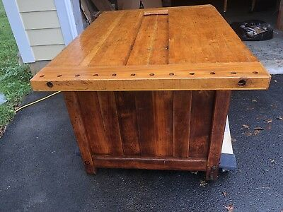 ANTIQUE WORK BENCH WITH 16 Drawers