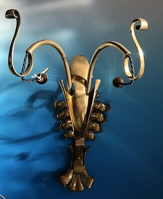 Huge Arts And Crafts / Art Nouveau Wall Light / Lamp / Light