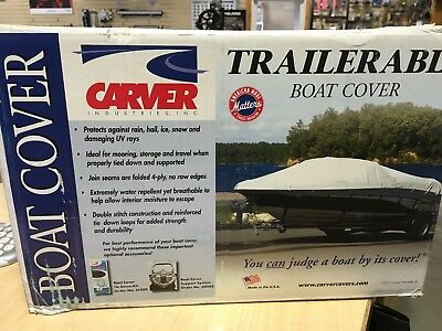 Starr Brand Guardian Boat Cover 90043 16Ft 18Ft  8 Oz Grey Cotton Canvas 2481