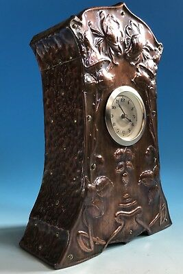 Arts And Crafts / Art Nouveau Copper Mantle Clock