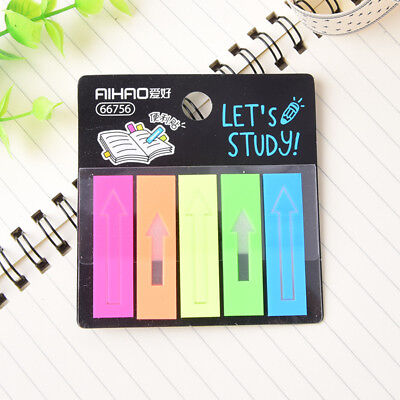 100pcs plastic self adhesive memo pad sticky notes bookmark index paper schoolFE