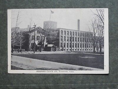 Post Card  J85817  Forestville, CT Sessions Clock Co. c-1907-1915