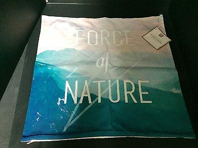 Pottery Barn Teen Force of NATURE Photo Real PILLOW COVER Bed Bedroom GIFT NEW