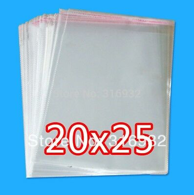 Clear Resealable Cellophane/BOPP/Poly Bags 20*25cm  Transparent Opp Bag Packing