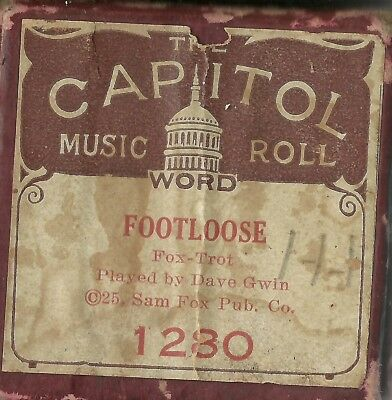 Footloose, played by Dave Gwin, Capitol 1230 Piano Roll Original