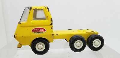 VINTAGE 1960s Tonka Toys Yellow Pressed Steel Toy Truck