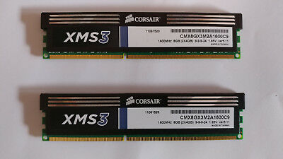 8 GB Corsair XMS3 DDR3 RAM 1600MHZ (2 x 4 GB KIt)