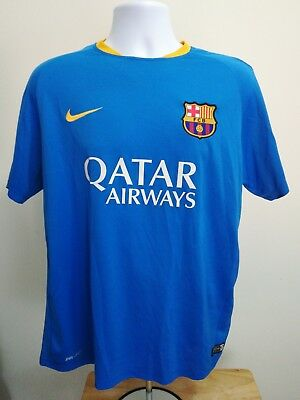 ff5408e93 BARCA TRAINING JERSEY Men training blue. Nike Authentic Size XL ...