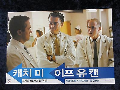 Catch Me If You Can lobby card # 5 Leonardo Dicaprio, Steven Spielberg