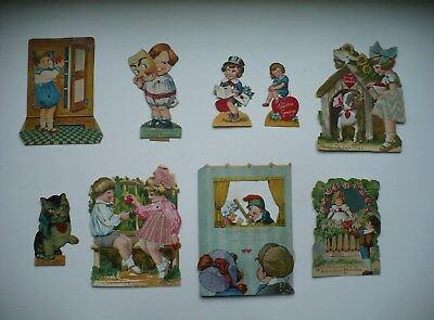 Group Of 9 Old Mechanical Valentine Cards