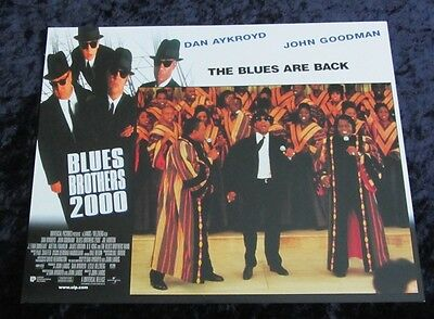 Blues Bros 2000  lobby card # 2 Dan Aykroyd, John Goodman, Aretha Franklin