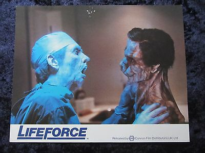 Lifeforce lobby card # 2 - Frank Finlay, Mathilda May, Peter Firth, Tobe Hooper
